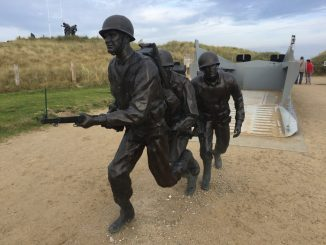 Utah Beach tribute to Andrew Higgins the designer of the iconic D-Day landing craft