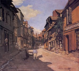 A Monet painting of a street we visited!