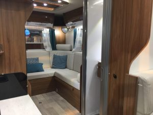 One of the lovely new (expensive) motorhomes at the show