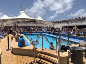 Main cruise ship pool