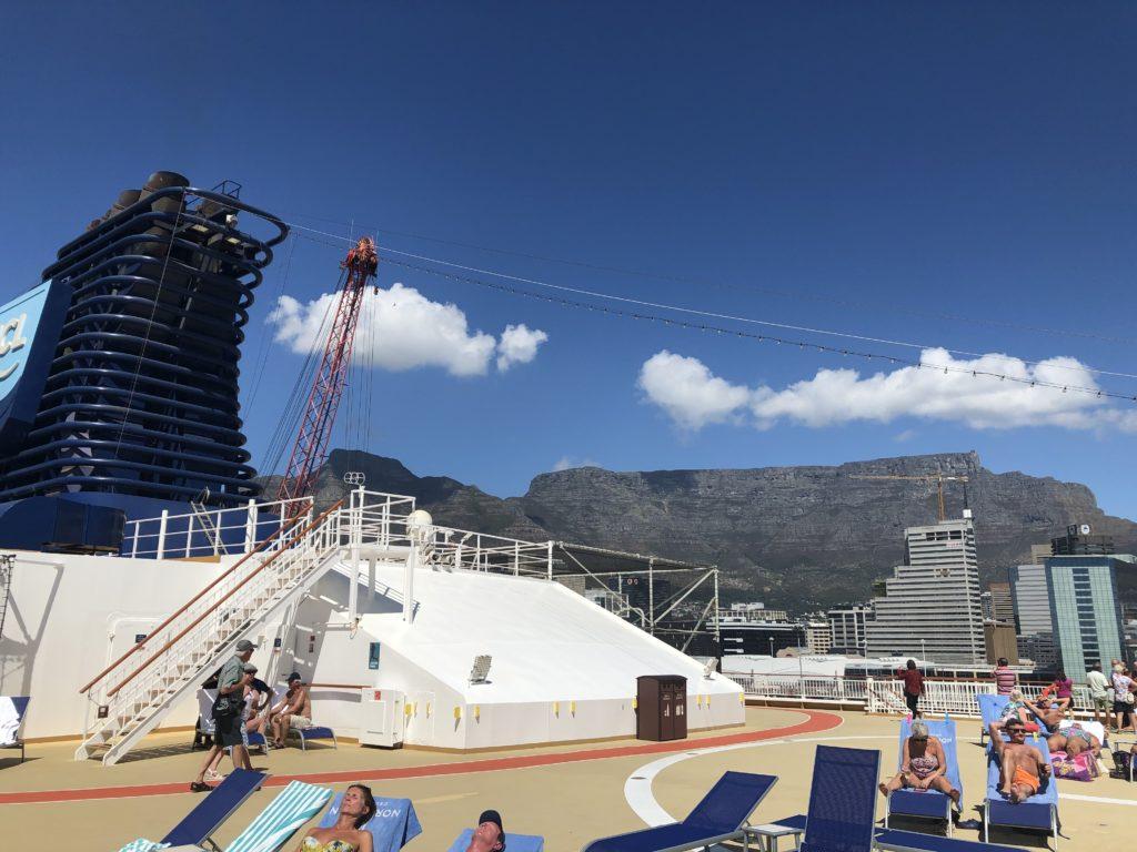 Table Mountain cruise ship views