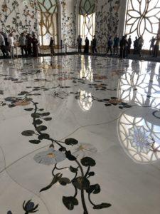 Beautiful marble floors