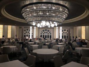 Stylish cruise ship dining