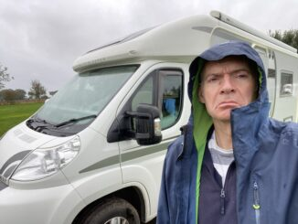 Miserable wet campsite